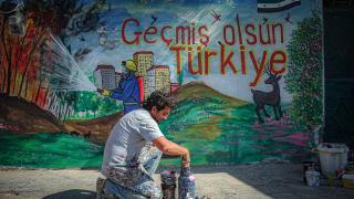 İdlibli grafiti sanatçısından Türk halkına destek