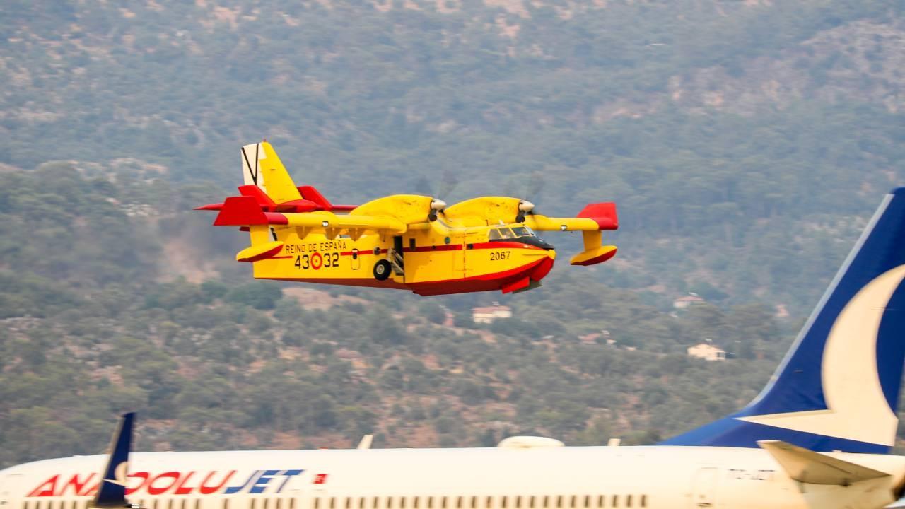 İspanya'dan gelen uçaklar Muğla'da