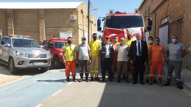 KKTCden yangınlarla mücadeleye destek amacıyla Türkiyeye destek