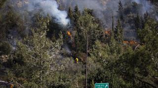 Batı Kudüs yakınındaki yangın devam ediyor
