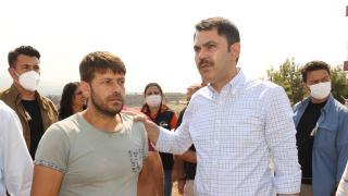 Bakan Kurum: Vatandaşlarımızın yaralarını sarana kadar sahadayız