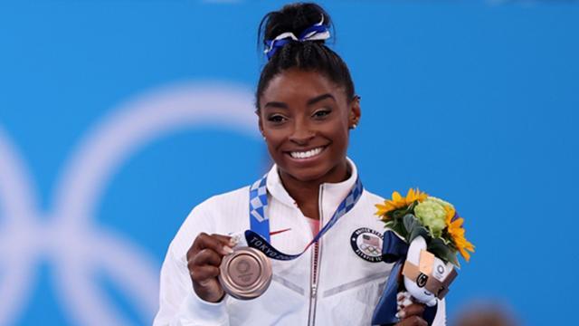 ABDli cimnastikçi Simone Biles üçüncü oldu