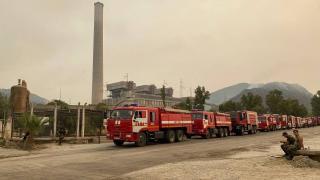 Termik santraldeki yangın söndürüldü, soğutma sürüyor