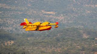 İspanya'dan gönderilen yangın söndürme uçakları faaliyetlerine başladı