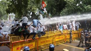 Delhi'de protesto gösterisi