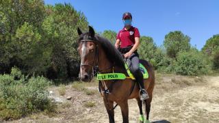Bakırköy'de atlı polislerden denetim