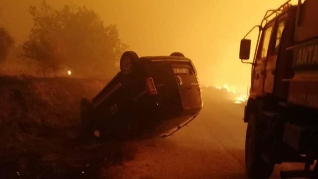 Kırklarelinde hayvan çiftliğinde çıkan yangına müdahale ediliyor