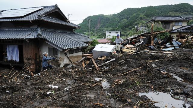 Japonyada şiddetli yağışlar 3 can aldı