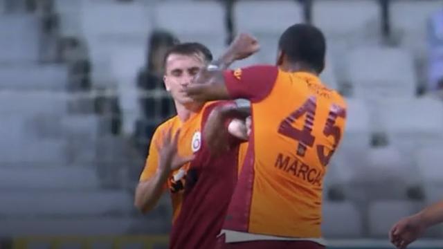 Marcao takım arkadaşı Kerem Aktürkoğlunu yumrukladı