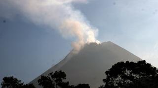 Endonezya'daki Merapi Yanardağı'nda hareketlilik