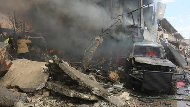 Suriyenin Azez ilçesinde bombalı saldırı: 3 yaralı