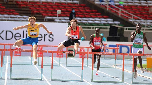 Berke Akçam 400 metre engellide dünya şampiyonu oldu