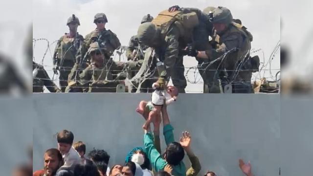 Kabilde ABD askerlerine verilirken görüntülenen bebek ailesine kavuştu