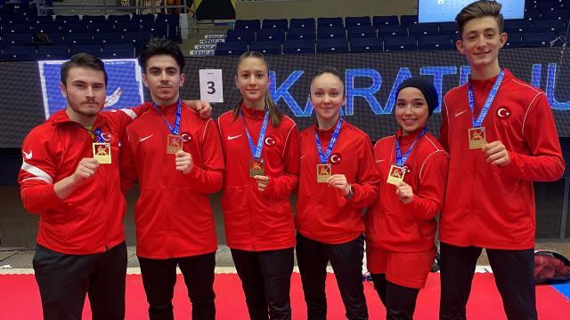 Milli karatecilerden 6 madalya