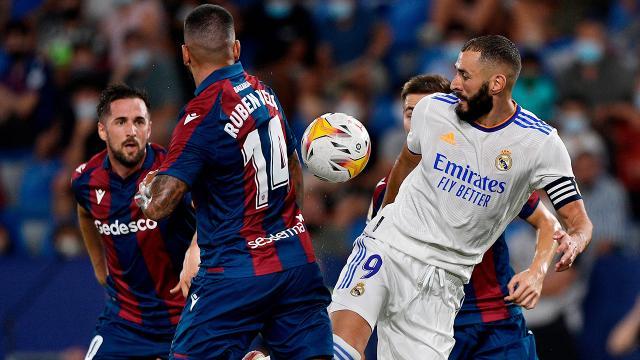 Real Madrid, Levante deplasmanından 1 puanla döndü
