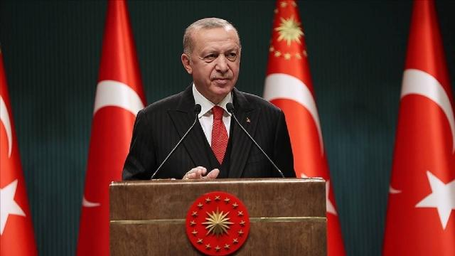 Cumhurbaşkanı Erdoğandan Bakünün kurtuluş yıl dönümü mesajı