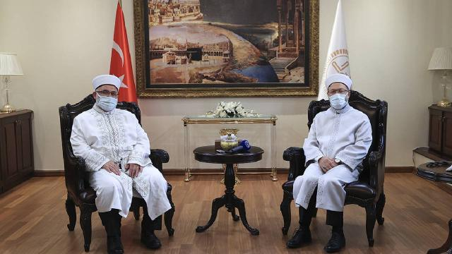 Diyanet İşleri Başkanı Erbaş, KKTC Din İşleri Başkanı ile görüştü