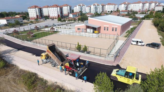Suluovada altyapı sonrası yollar asfaltlanmaya başlandı