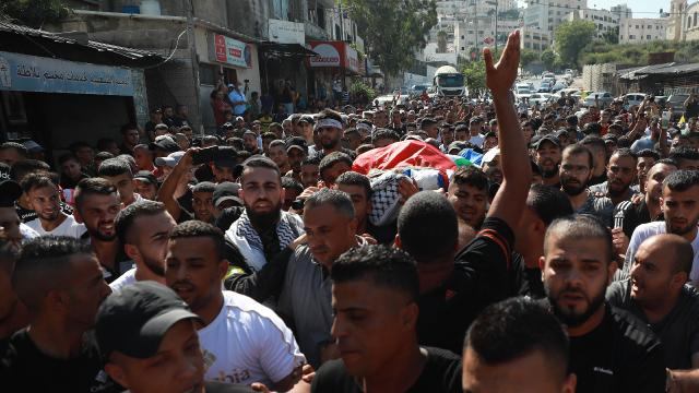 İsrail güçlerinin Batı Şeriada öldürdüğü Filistinli çocuk son yolculuğuna uğurlandı
