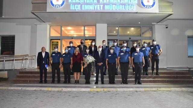 İzmir İl Emniyet Müdürü Mehmet Şahneden Karşıyakada ziyaret