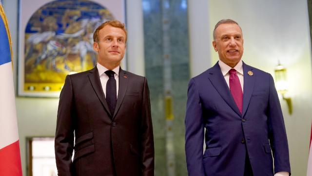 Fransa Cumhurbaşkanı Macron Bağdatta