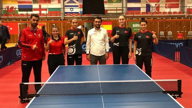 Masa tenisinde A Milli Kadın Takımı Romanyada finale kaldı