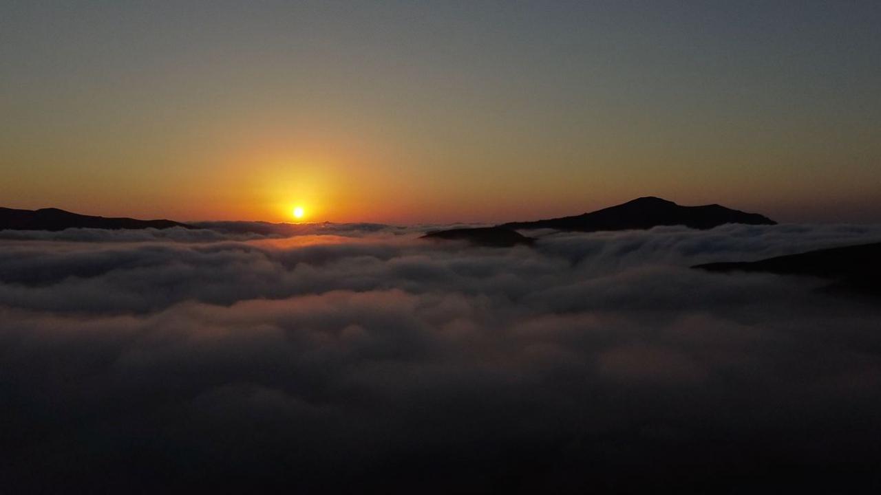 Gümüşhane yaylalarından eşsiz gün batımı manzarası