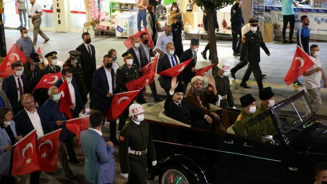 Büyük Önder Mustafa Kemal Atatürkün Sivasa gelişi temsili olarak canlandırıldı