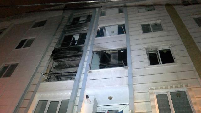 İstanbulda bir dairede yangın