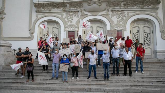 ABDnin Tunus ziyareti protesto edildi