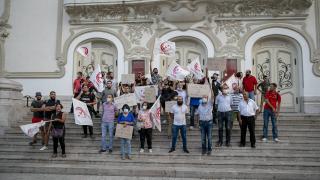 ABD'nin Tunus ziyareti protesto edildi
