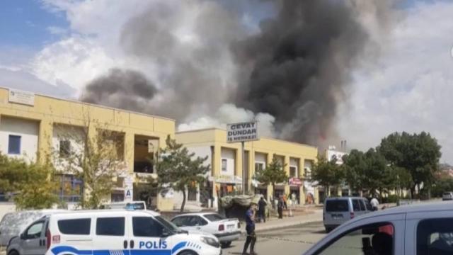 Ankara OSTİMdeki yangın kontrol altında