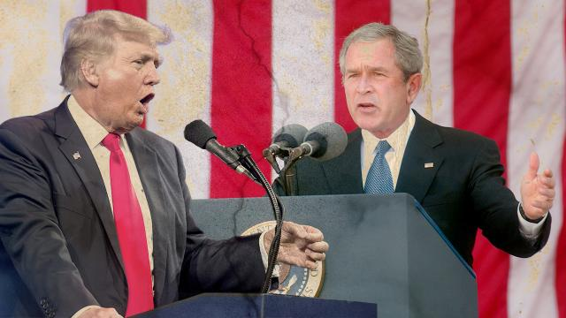 Bush ile Trump arasında iç terör tehdidi tartışması yaşanıyor