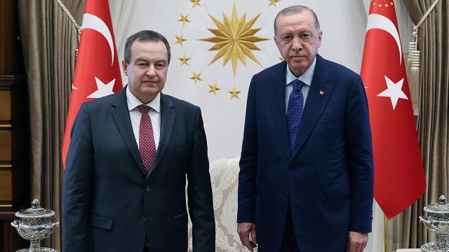 Cumhurbaşkanı Erdoğan, Sırbistan Ulusal Meclis Başkanı Daçiçi ağırladı