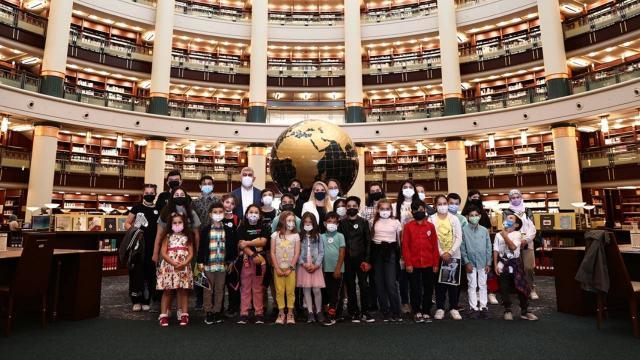 Şehit çocukları Cumhurbaşkanlığı Millet Kütüphanesinde