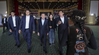Fuat Oktay Kırgızistan'ın Çolpon-Ata şehrini ziyaret etti
