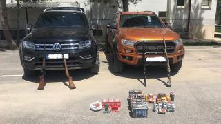 Kaçak avlanmada kullanılan araçlara el konuluyor