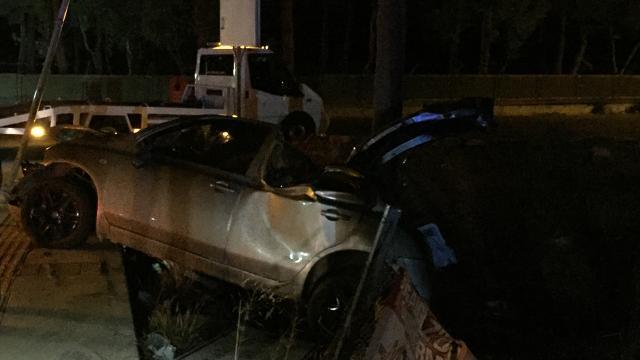 İzmirde düğün dönüşü kaza: 4 yaralı