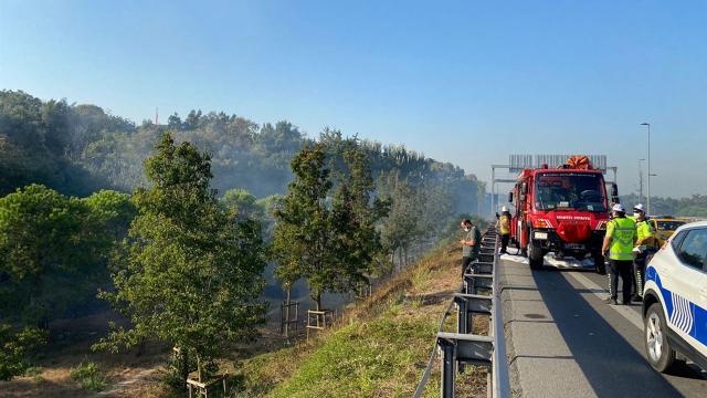 15 Temmuz Şehitler Köprüsü yakınında yangın