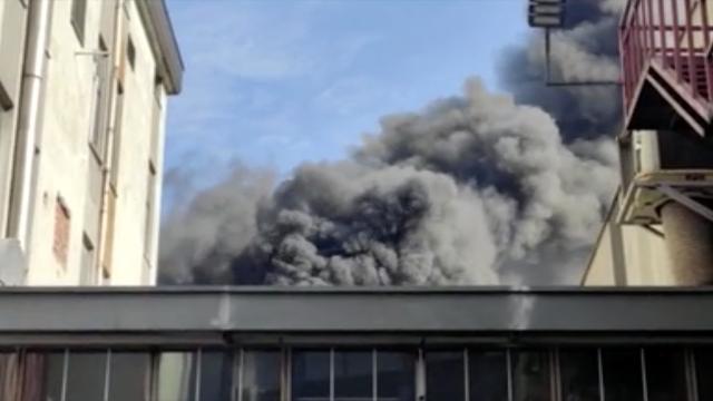 Başakşehirde iş merkezinde yangın