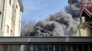 Başakşehir'de iş merkezinde yangın