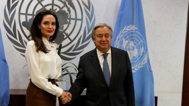 BM Genel Sekreteri Guterres, Angelina Jolie ile görüştü