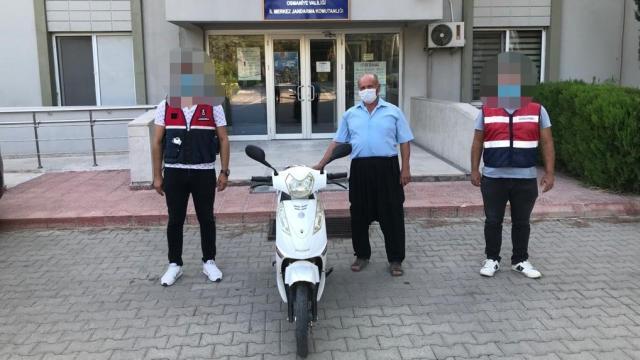 Çalınan motosiklet bulunarak sahibine teslim edildi