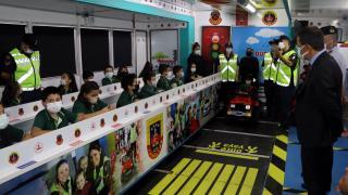Çankırı'da öğrencilere Jandarma Mobil Trafik Eğitim Tırı'nda trafik kuralları anlatıldı