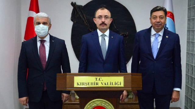 Bakan Muştan Kırşehir Valiliğine ziyaret