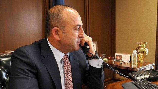 Dışişleri Bakanı Çavuşoğlu, Fransız mevkidaşıyla telefonda görüştü