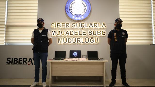 Antalya merkezli sosyal medyadan bahis dolandırıcılığı operasyonunda ele geçirilenler sergilendi