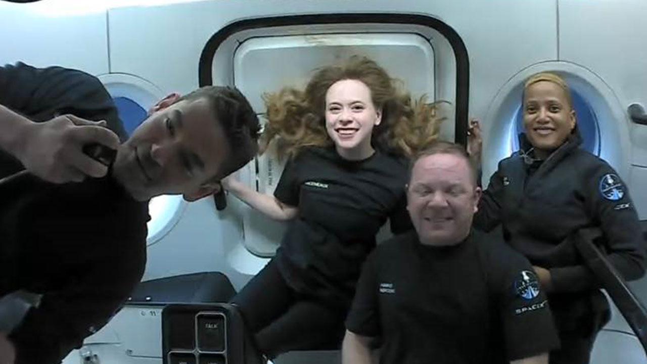 'Uzay turistlerinden' ilk kareler geldi