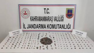 Kahramanmaraş'ta çok sayıda tarihi obje ele geçirildi
