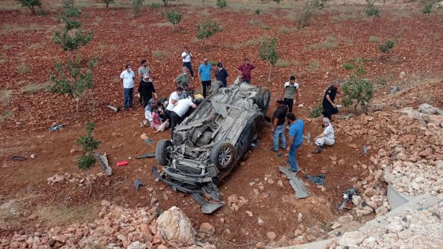 Kahramanmaraşta otomobil devrildi: 5 yaralı